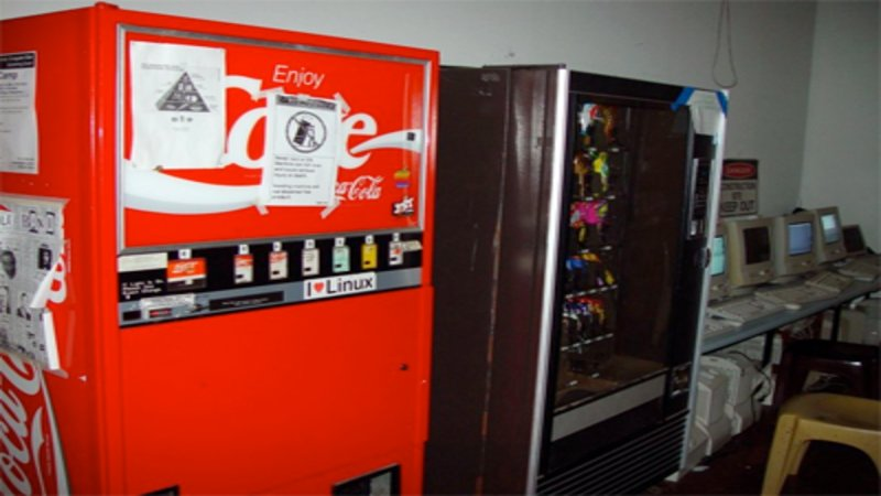 The Carnegie Mellon University School of Computer Science Coke machine